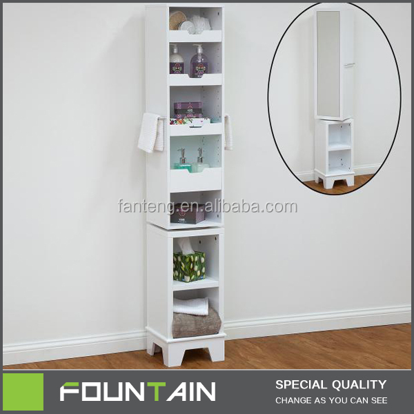 Unique Style Rotating Storage Cabinet with Mirror Tall Mirrored Storage Cabinet