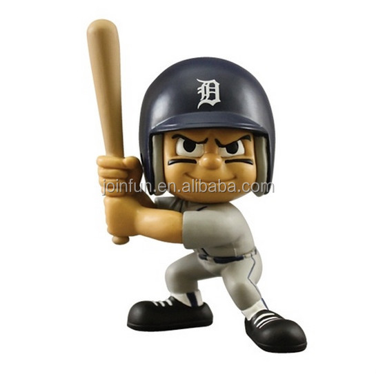 customized pop baseball action figure toys,plastic cartoon character baseball player action figures