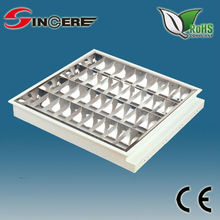T8/T5 4*18w fluorescent louver office Recessed grill fluorescent electric light 595x595 t8