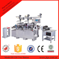 JH-320 label die cutting machine with hot stamping for adhesive stickers