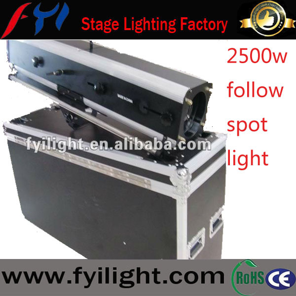 Fashion style dj stage 2500w led hmi following spot light