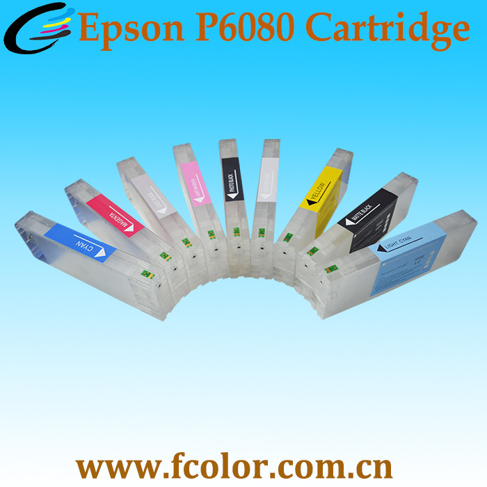 Empty Refill Ink Chip Cartridge for Epson SureColor P6080 P8080 Inkjet Printer