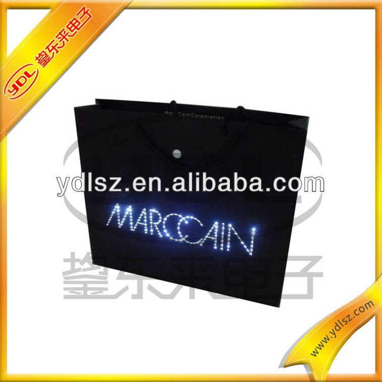 Fashion LED light flash bag with handles