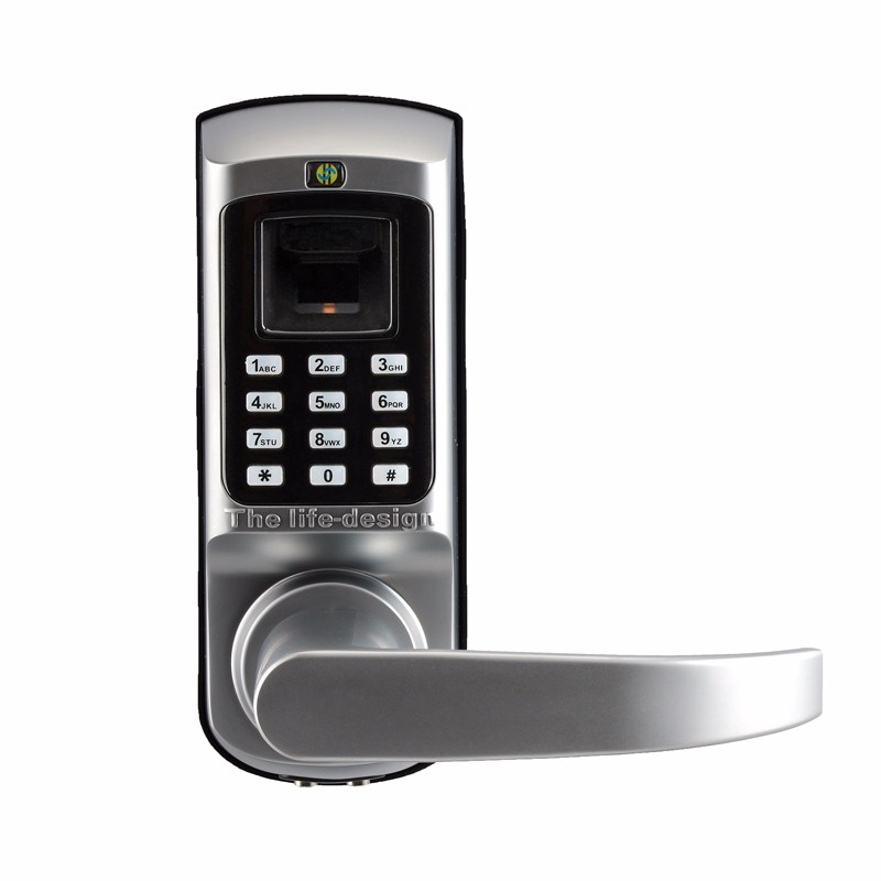Keyless fingerprint keypad digital door locks for home for 1 touch fingerprint door lock