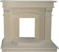 Imported good quality promotional used white marble electric fireplaces