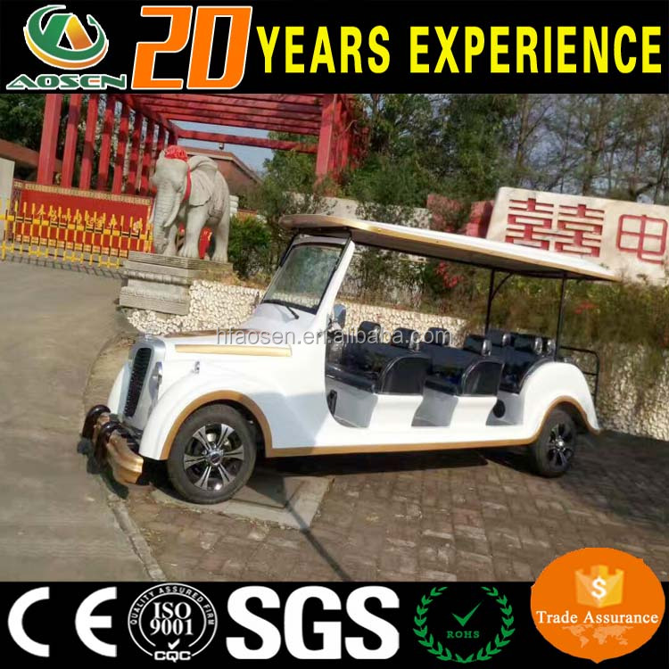 72V Classic 4 Wheel 8 Passenger Airport Golf Car Electric Car For Sale