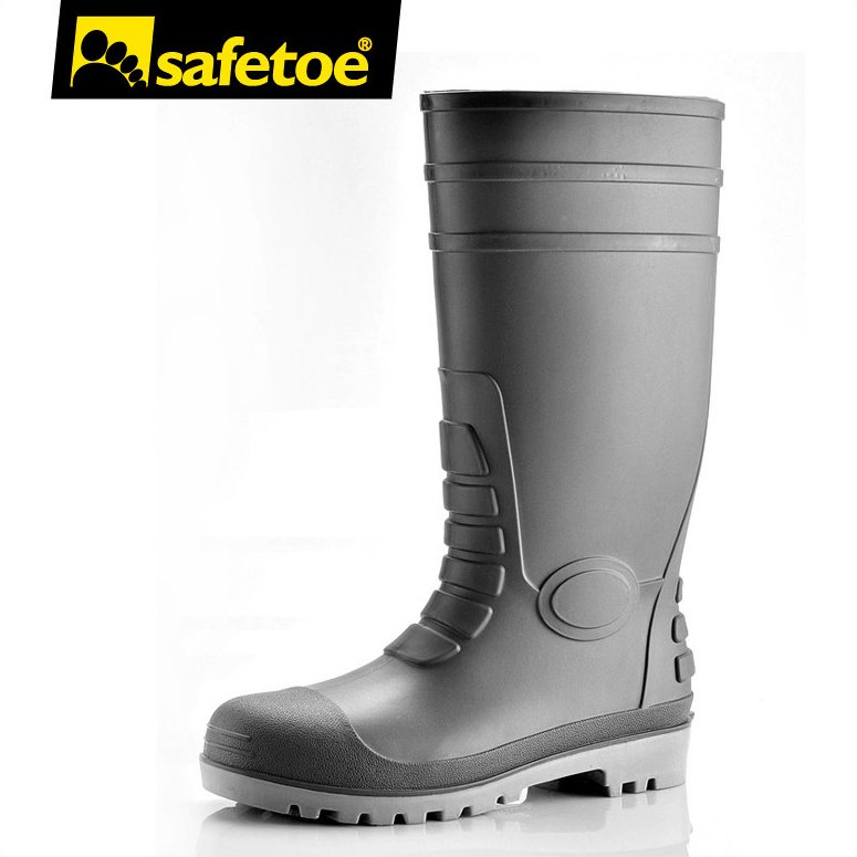 PVC brand safety boots, industrial safety gum boots,PVC protective safety shoes