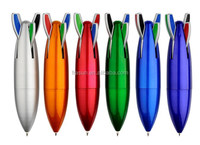 4 in 1 colorful ink plastic ball pen new rocket shape ball pen mould