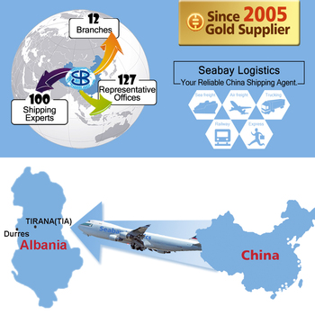cheap air cargo freight forwarding dhl express service from china to albania