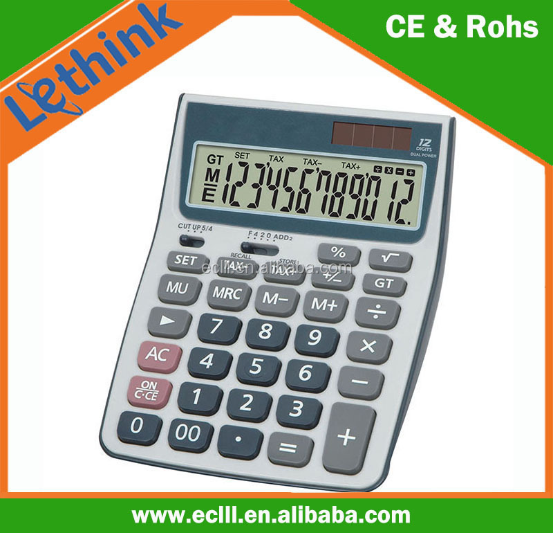 Soft rubber key big display Calculator
