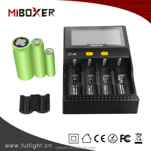18650 batteries smart charger for squonk box mod new MiBoxer C4 Charger MiBoxer Intelligent Battery Charger