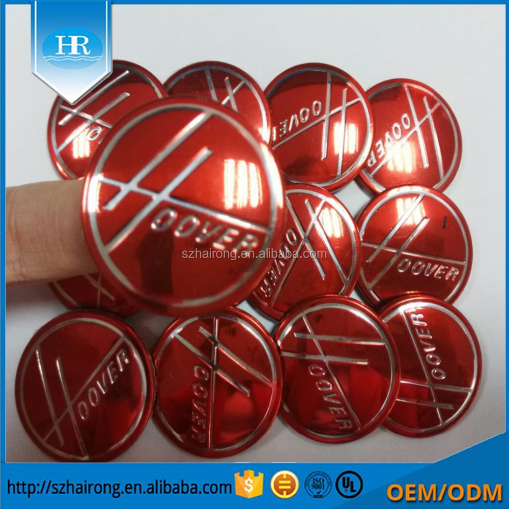 Factory stright sale custom 3D metal logo sticker with fast delivery