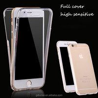 For iPhone Case, 360 Degree Full Cover Crystal Soft TPU Phone Case for iPhone 6 Case