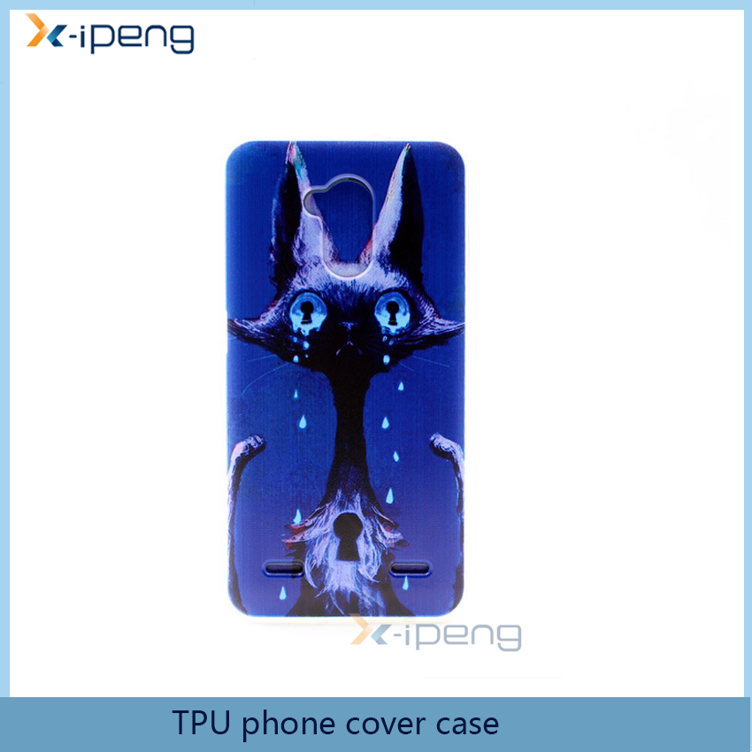 China supplier Printed Crystal design transparent TPU mobile phone back cover case for zte grand x2