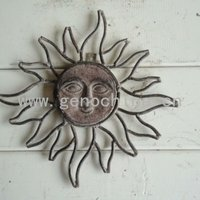 Sun Face With Rays Wall Plaque