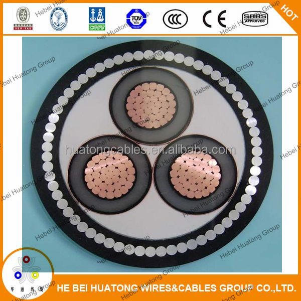 Cable manufacturer 3X95mm2 xlpe insulated underground 11KV power cable