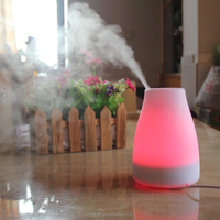Ultrasonic aroma essential oil diffuser with lamp