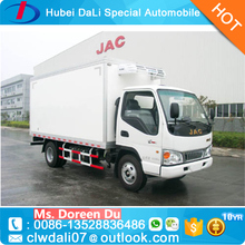 JAC refrigerated cargo box freezer van 2 to 5 ton cooler truck