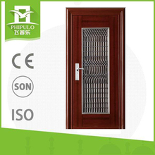 wrought iron door inserts for vented residential steel doors and frames
