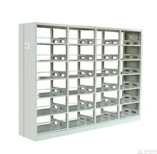 popular design double sides iron bookshelf, double faced book shelf, commercial school library furniture