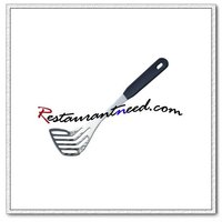 U077 Stainless Steel Slotted Potato Turner With Plastic Handle