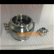 Sanitary stainless steel clamp check valve with heavy duty clamp