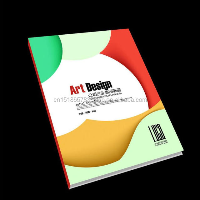 Full color well designed offset custom cosmetics catalogue printing china