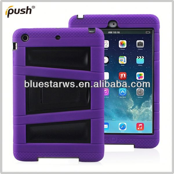For ipad air cover case Robot Case For IPad 5 PC + Silicon Case For Apple IPad Air