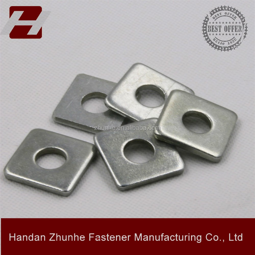 HeBei Galvanized square plate washer with Round hole
