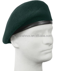Military 100% pure wool berets green