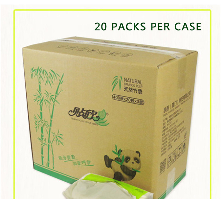 2017 new produces tissue paper bamboo raw material facial tissue paper chinese supplier
