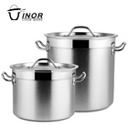 30 liter large stainless steel stock pot set
