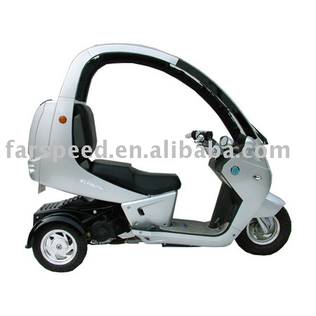 Three-wheels With Cover EEC Scooter,gas scooter,motor scooter (FPM150E-D)