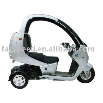 Three wheels with cover eec scooter gas scooter motor for Motor scooter 3 wheels
