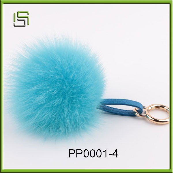 Wholesale Fur Ball Fur Pom Poms bag keychain
