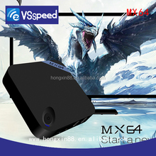 with Kodi 16.0 mx 64 VSPEED MX64 google 4K internet tv box MXQ Plus with Amlogic S905 H.265 hardware MXQ OTT TV BOX