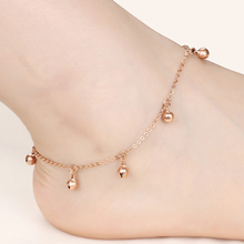 Marlary Fashion Anklets Stainless Steel Wedding Barefoot Sandals Beach Foot Jewelry Sexy Female Payal Bell Anklet