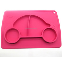 New products FDA food grade bpa free non slip kids car snail shape baby feeding silicone baby placemat