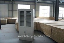 Steel Office Furniture Equipment Laboratory Cabinet Up Swing Glass Door Filing Bookshelf Cabinet Provider