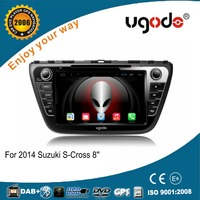 ugode android 4.4 quad core 8inch 2 din touch screen car dvd gps for 2014 Suzuki SX4 S-cross android car dvd player