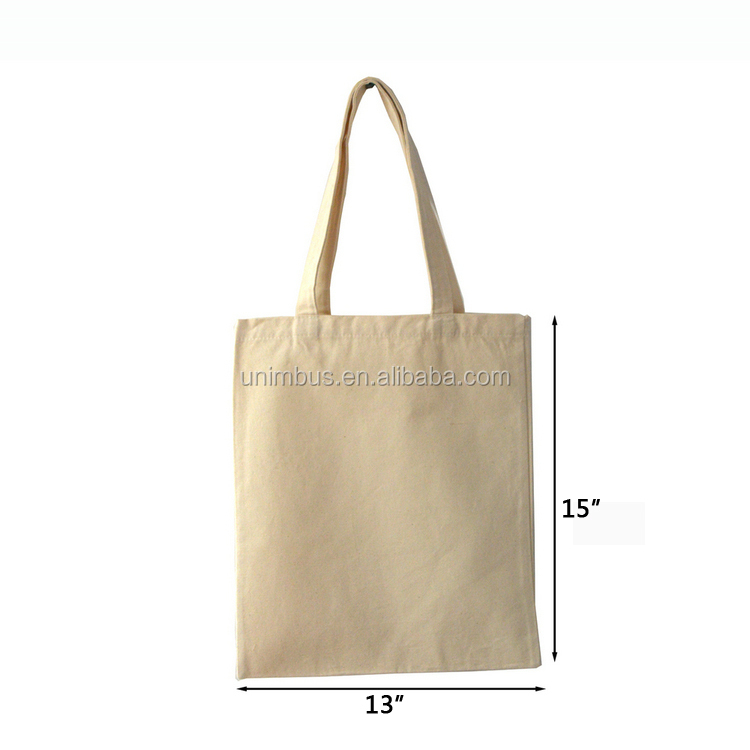 Reusable Natural Cotton Canvas Tote Bag With Custom Printing Logo