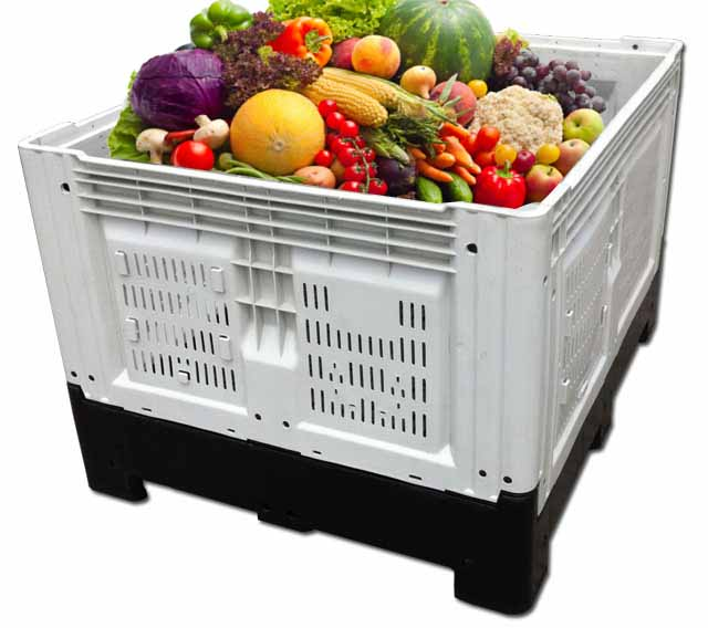 1200x1000mm Large Plastic Storage Crates For Fruit Or