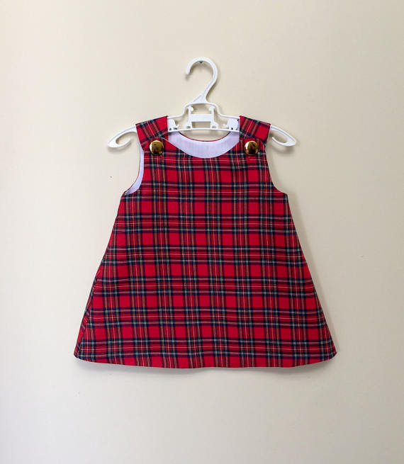 New fashion red plaid children boutique toddler clothing lovely baby girl summer dress