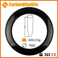 2015 CarbonBikeKits fast speed 88mm v shape tubular carbon 700c aero road bike wheel rims fast delivery CR88T
