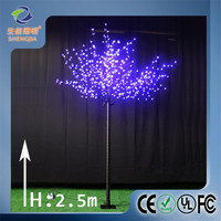 beautiful flower outdoor lights led cherry blossom artificial tree for pvc christmas