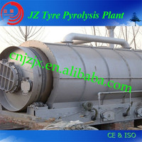 Yield higher waste tyre and plastic pyrolysis plant for oil refinery