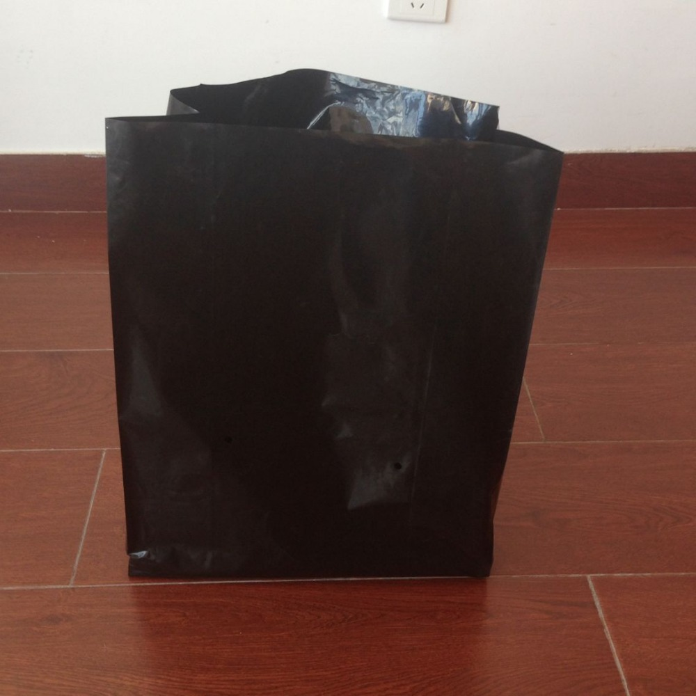 3 Gallon black plastic planting tree nursery grow bags, cultivation plastic grow bags