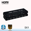 5*1 3D multi-port HDMI Switcher adapter