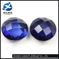 Different Kinds of Sizes Loose Diamond Stones Wholesale,Precious Checkerboard Faceted Round Synthetic Rough Diamond Corundums