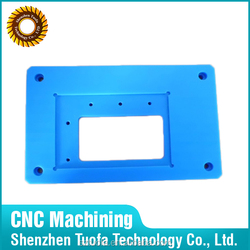 Small production cnc custom metal and plastic faceplate